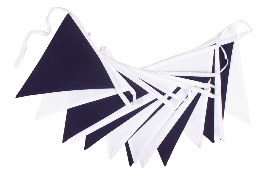 Navy Blue and White Bunting