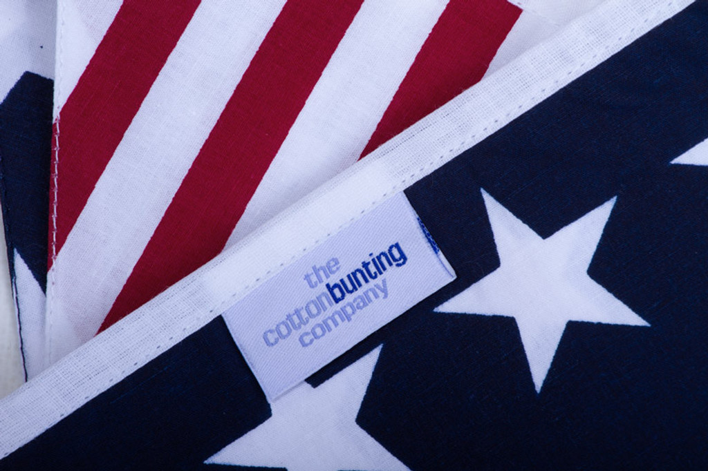 American Stars and Stripes Bunting Close Up