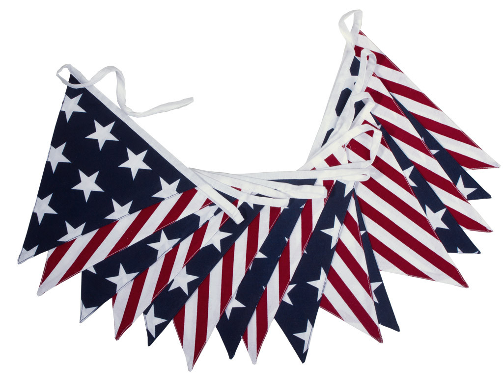 American Stars and Stripes Bunting
