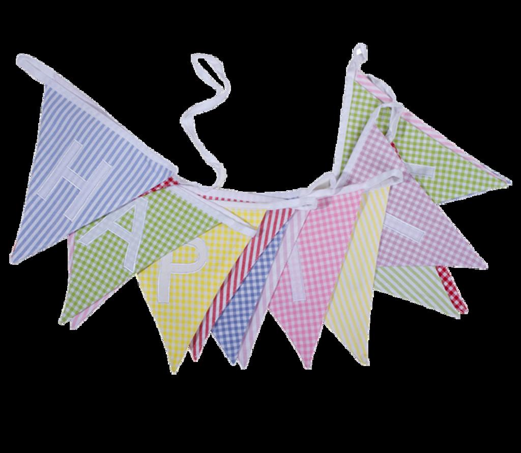 Fabric Happy Birthday Bunting UK