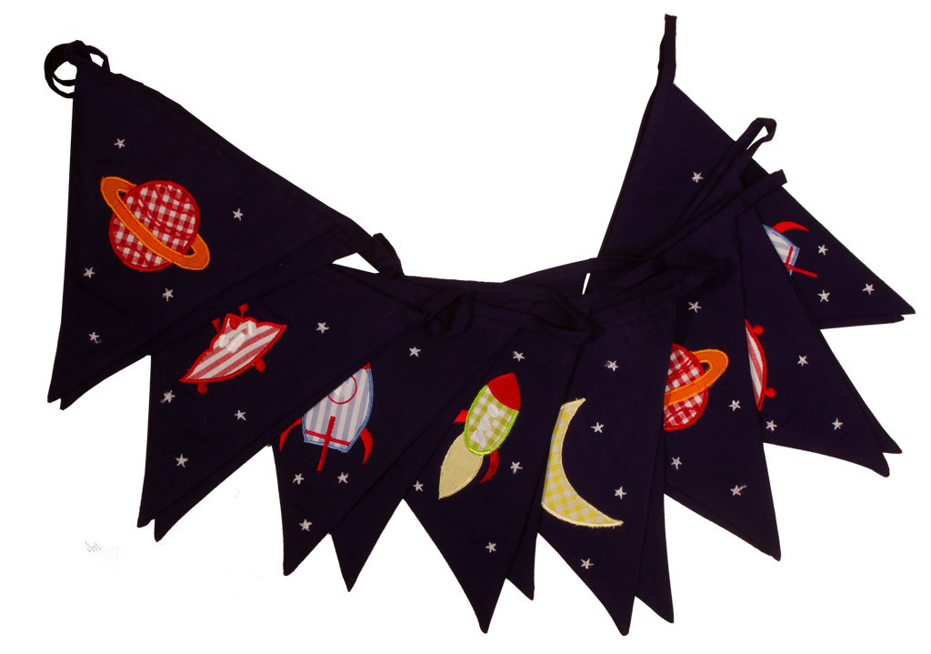 Rockets and Aliens Bunting