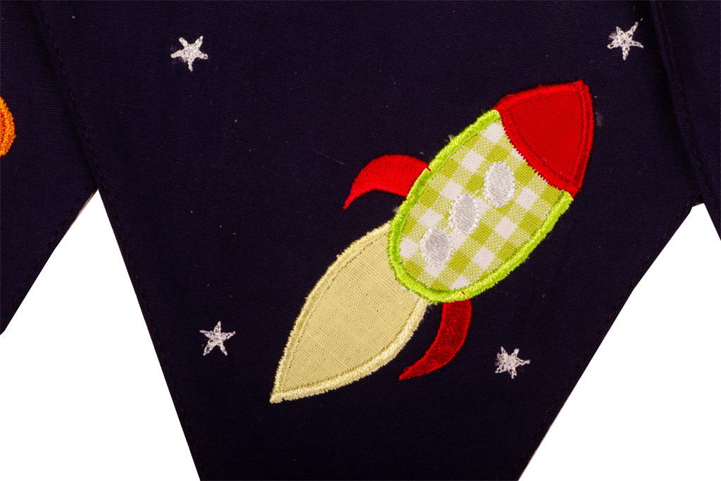 Rockets and Aliens Bunting Rocket Green