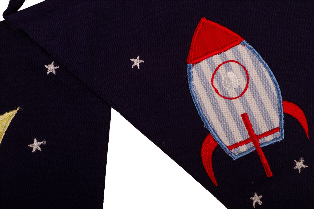 Rockets and Aliens Bunting Rocket