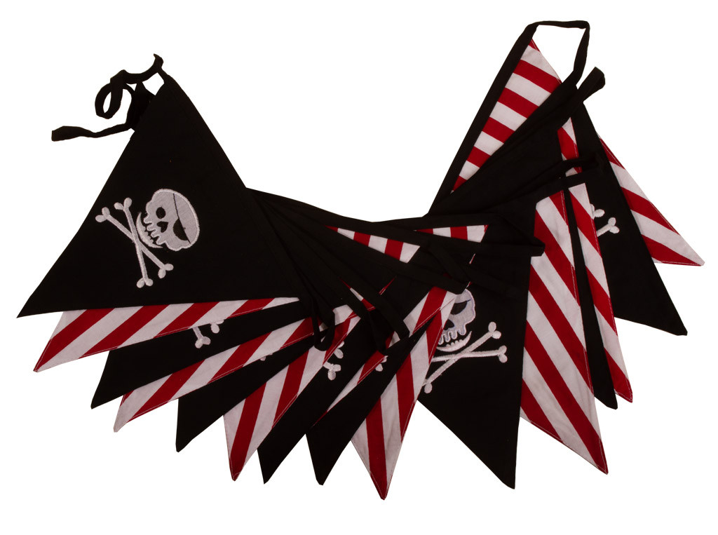 Pirate 'Jolly Roger' Skull and Cross Bones Bunting