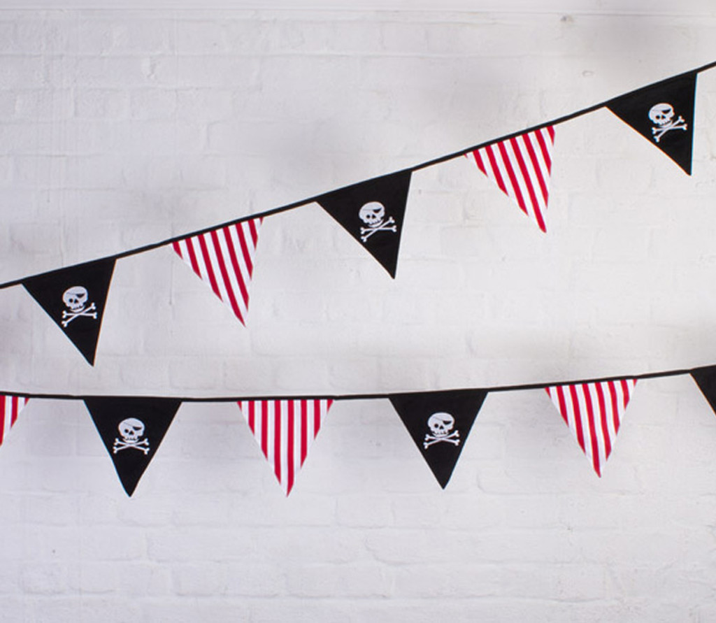 Pirate 'Jolly Roger' Party Fabric Bunting