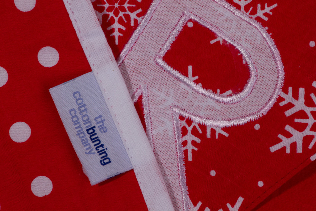 Merry Christmas Bunting Close Up