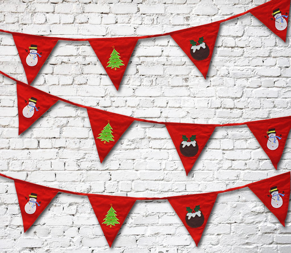 Red Christmas Bunting