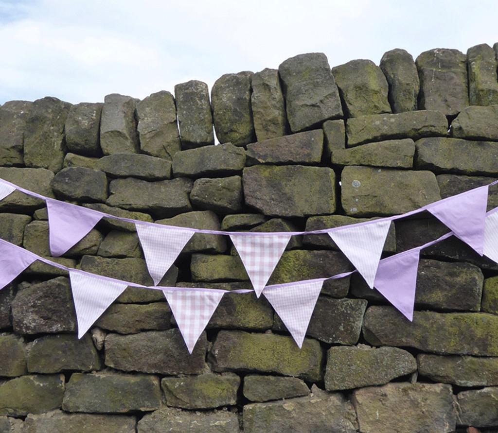 Lilac Fabric Bunting UK