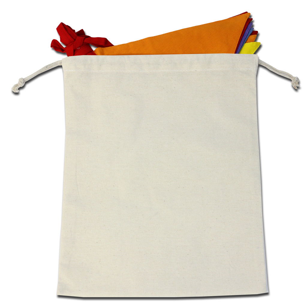 Bag to store cotton bunting