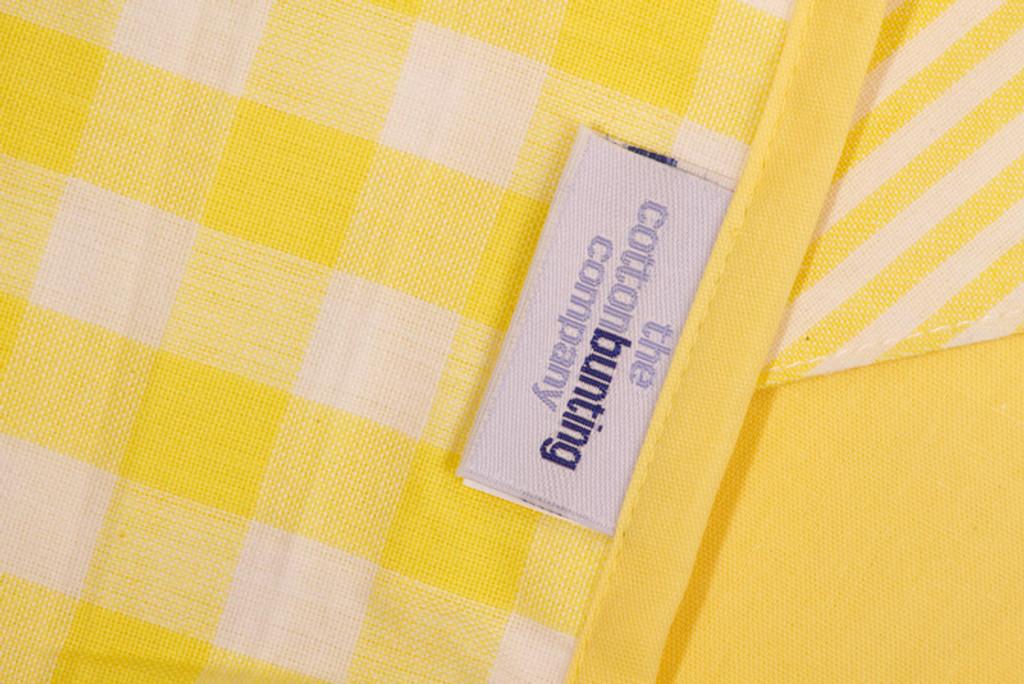 Lemon Bunting Close Up