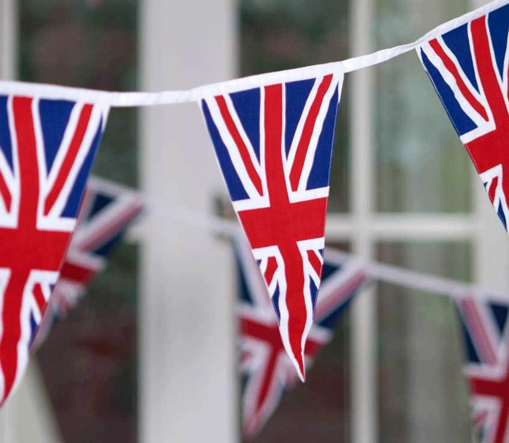 Union Jack Cotton Fabric Bunting