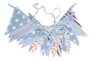 Economy Blue Floral Bunting
