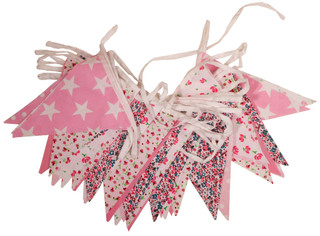 Economy Pink Floral Bunting