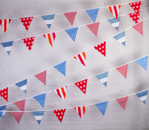 Summer Festival Bunting Hanging