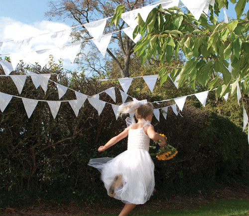 White Cotton Wedding Bunting to buy