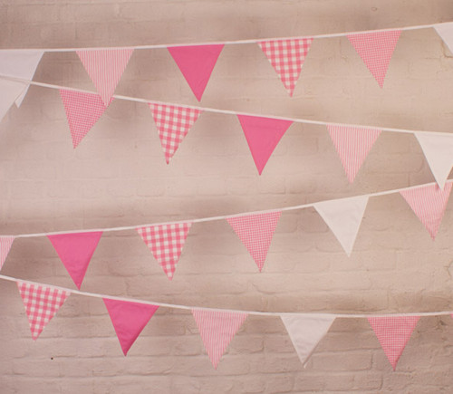 Pink Cotton Fabric Bunting