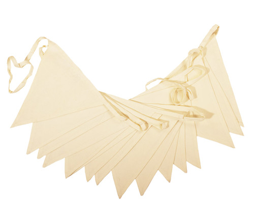 Cream fabric wedding bunting