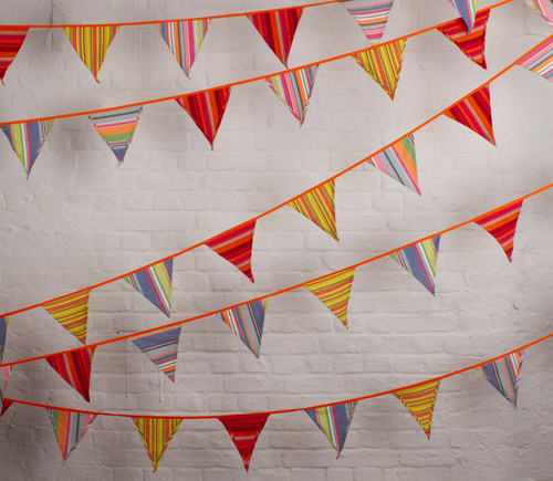 Beach Hut Fabric Bunting