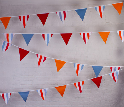 Garden Party Bunting Fabric Bunting UK