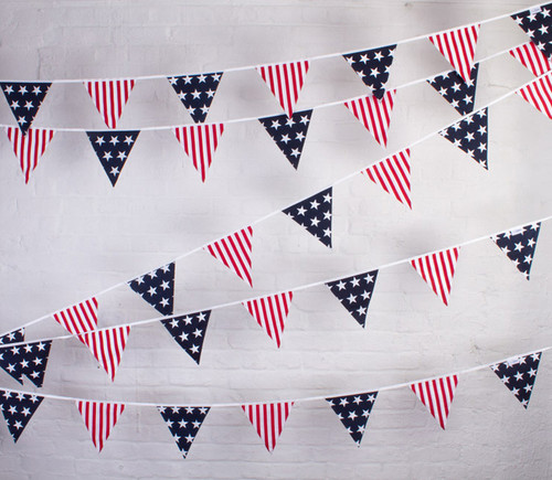 American Stars and Stripes independence day USA Bunting Hanging