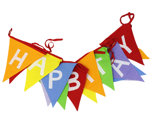 Rainbow Happy Birthday Fabric Bunting