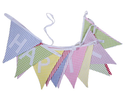 Fabric Happy Birthday Bunting UK