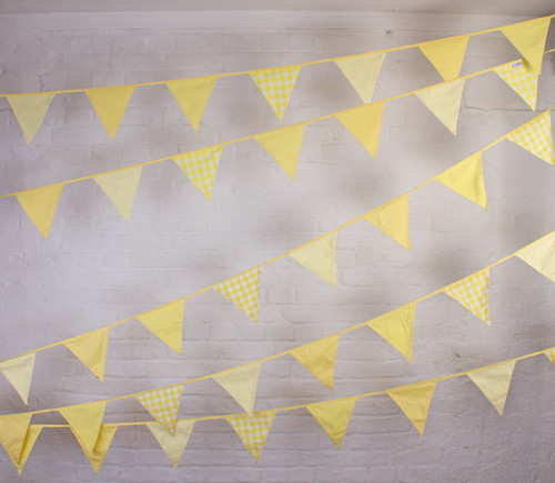 Lemon Bunting Hanging