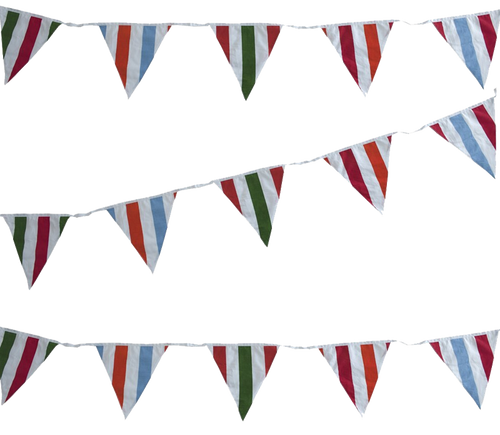 Deck Chair Beach Fabric Bunting