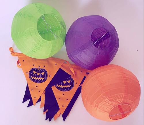 Halloween Bunting & Paper Lantern Pack