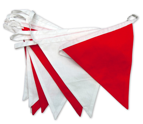 Red and White England Bunting