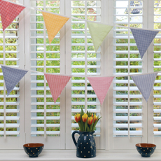 Checks and stripes bunting to buy