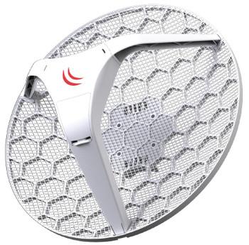MikroTik RBLHG-5HPnD LHG HP5 Light Head Grid 5GHz High Powered AP 24.5dBi Dual-Pol Integrated Antenna
