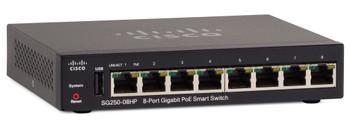 Cisco SG250-08HP-K9-NA PoE 8-Port Gigabit Smart Switch
