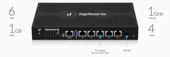 Ubiquiti ER-6P EdgeRouter 6-Port PoE Gigabit Router with EdgeMAX Technology