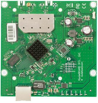 MikroTik RB911-5Hn 911 Lite5 600MHz CPU, 64MB 5Ghz .11a/n single chain,MMCX