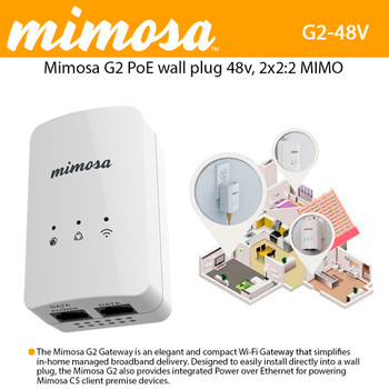 Mimosa 100-00034 (Mimosa G2) In-Home 2.4GHz 802.11n Wi-Fi Gateway with Router and Access Point