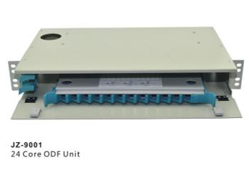"12 Core LC FC SC ST ODF Optical Distribution Frame rack mount 19"" Fiber Optic Management Unit  JZ-9000"