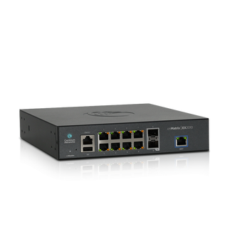 Cambium Networks MX-EX2010xxA-U cnMatrix EX2010 Intelligent Cloud Managed Ethernet Switch 2 SFP Fiber Ports with 84 Gbps Throughput and 8 Ports