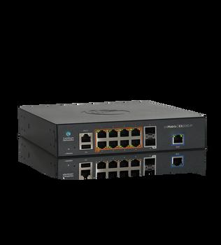 Cambium Networks MX-EX2010PxA-U cnMatrix EX2010-P, Intelligent Ethernet PoE Switch, 8 1G and 2 SFP fiber ports - USA power cord
