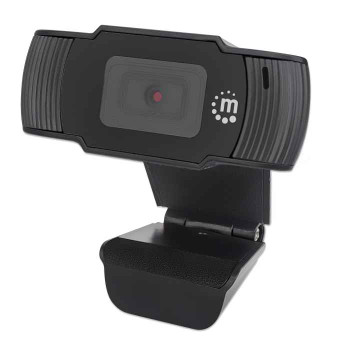 manhattan 1080p USB Webcam 2 Megapixel camera, USB-A Plug, Integrated Microphone, 30 FPS