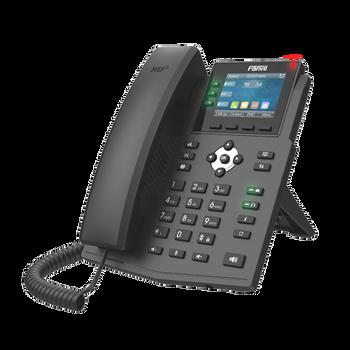 """Fanvil X3U Entry level phone 2.8"""" Color Display 6 SIP Lines POE Gigabit Ethernet"""