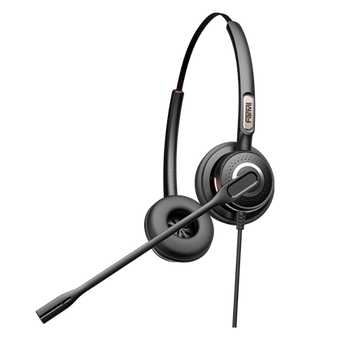 Fanvil HT202 over-the-head Headset for IP Phone (Duo) with Noise Cancelling Microphone HD Sound