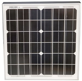 Tycon Systems TPS-12-15W Solar Panel, 12V 15W, Wire Terminal Top side.