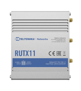 Teltonika RUTX11 WiFi LTE Cat6 Router (ALL CARRIERS)