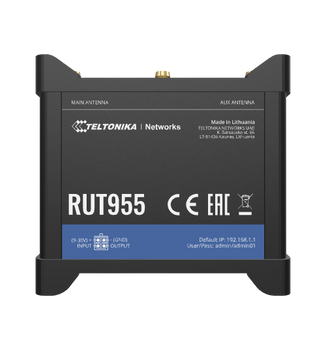 Teltonika RUT955 Rugged 4G/LTE Dual SIM Cellular Router (Verizon US Version)