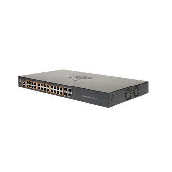 Cambium Networks MX-EX1028PxA-1 Intelligent Ethernet PoE+ Switch, 24x 1Gbit and 4x 1Gbps SFP fiber ports, No Power Cord