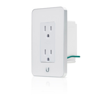 Ubiquiti mFi-MPW-W In-Wall Manageable Outlet for mFi Management System (White) (mFi-MPW-W)
