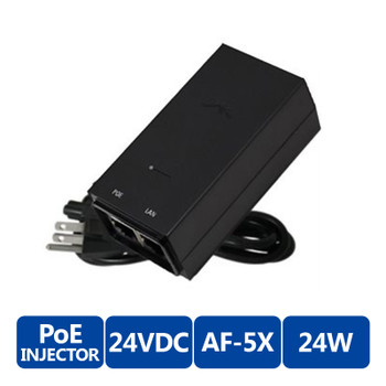 Ubiquiti POE Injector, 24VDC, 24W, AF-5X ( POE 24 AF5X )