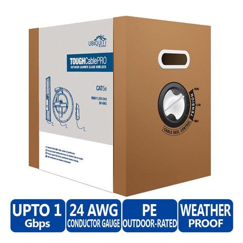 Ubiquiti TC-PRO TOUGHCable PRO Cat5e Outdoor Carrier Class shielded Ethernet Cable 1000ft/304.8m ESD (TC-PRO)