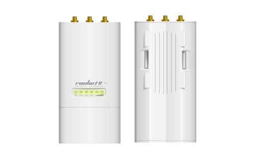 Ubiquiti RM5-GPS Powerful 2x2 MIMO airMax BaseStation International Version Front and Back.